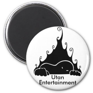 Utan Entertainment Logo 2 Inch Round Magnet