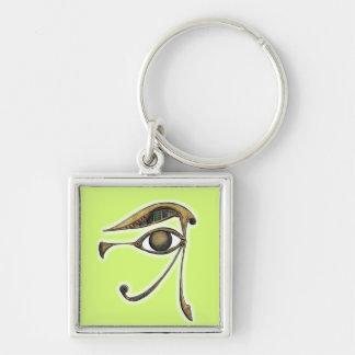 Utchat - amuleto de la protección llavero cuadrado plateado