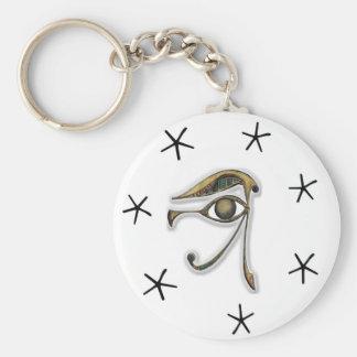 Utchat - amuleto de la protección llavero redondo tipo pin
