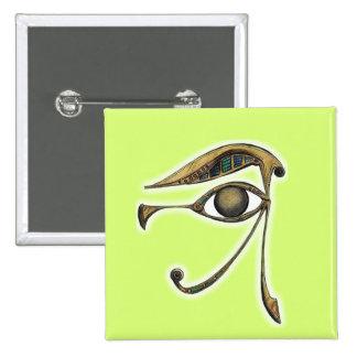Utchat - amuleto de la protección pin cuadrada 5 cm