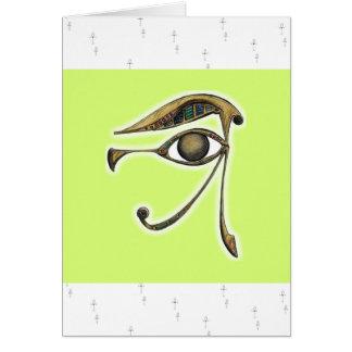 Utchat - amuleto de la protección tarjeta de felicitación
