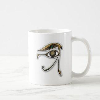 Utchat - amuleto de la protección taza de café
