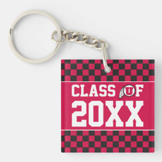 Ute Class Year Double-Sided Square Acrylic Keychain