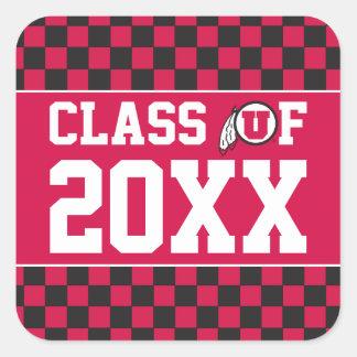 Ute Class Year Square Sticker
