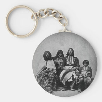 Ute Family Vintage Stereoview Basic Round Button Keychain