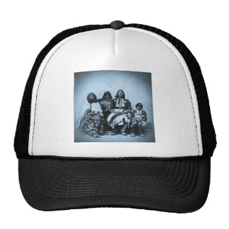 Ute Family Vintage Stereoview Cyan Trucker Hat