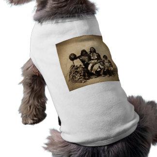 Ute Family Vintage Stereoview Sepia T-Shirt