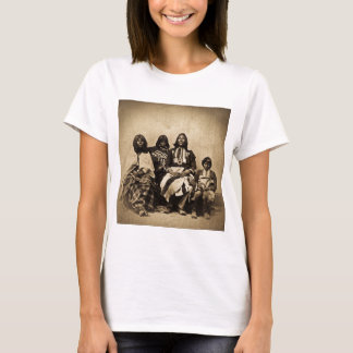 Ute Family Vintage Stereoview Sepia T-Shirt
