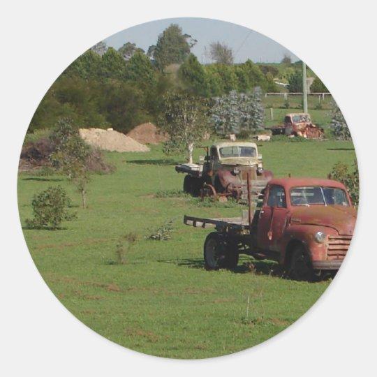 Ute Graveyard Classic Round Sticker