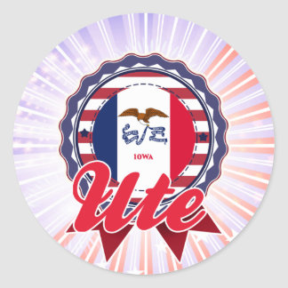 Ute IA Round Stickers