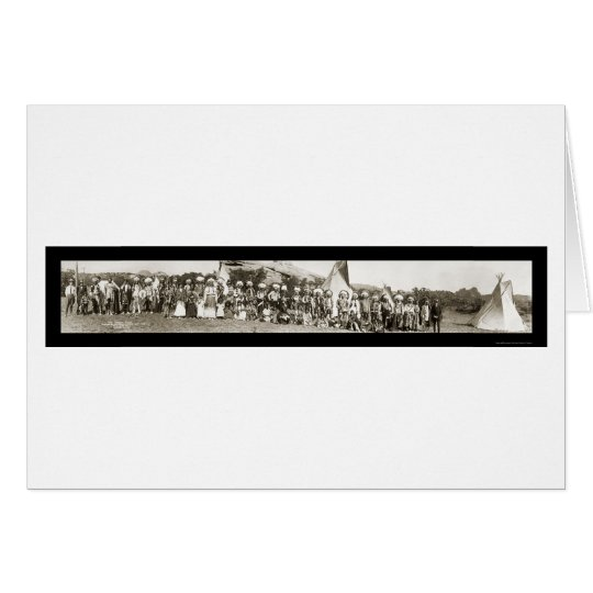 Ute Indian Camp Photo 1913 Card