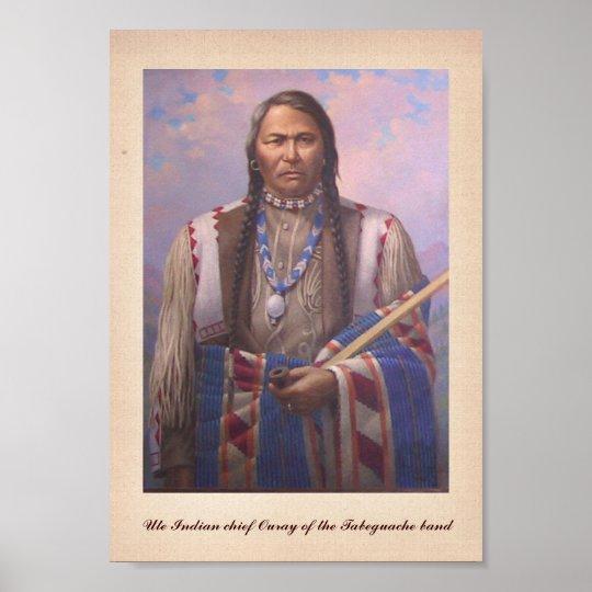 Native American Indian High Chief Ignacio Portrait Photo Art Print Poster
