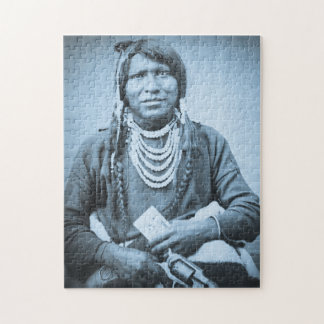 Ute Indian Stereoview Vintage Portrait Jigsaw Puzzle