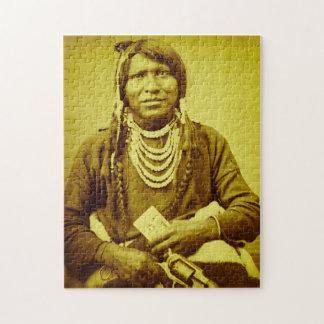 Ute Indian Stereoview Vintage Portrait Puzzles