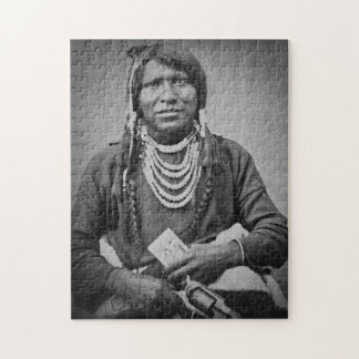 Ute Indian Stereoview Vintage Portrait Jigsaw Puzzles
