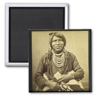 Ute Indian with Pistol and Card Fridge Magnet