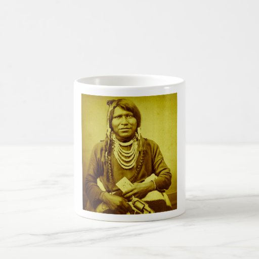 Ute Indian with Pistol Vintage Stereoview Mugs