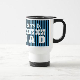 UTEMPLATE World's Best DAD BLUE STRIPES A07T Travel Mug