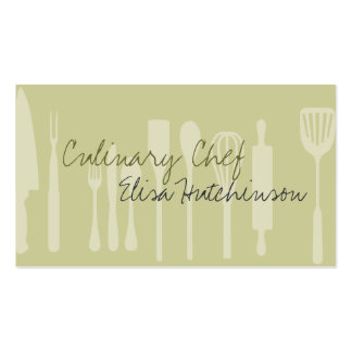 Utensil Culinary Chef Business Cards Pack Of Standard Business Cards