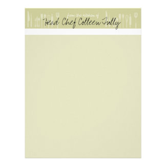 Utensil Culinary Chef Letterhead