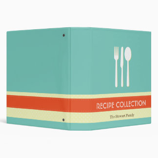 Utensil orange blue organizing recipe collection 3 ring binders