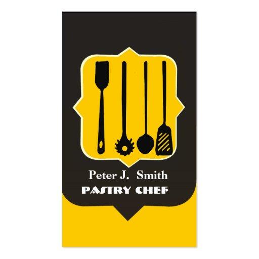Utensilios de la cocina plantilla de tarjeta personal