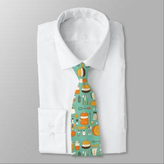 Utensilios modernos de la cocina del inconformista corbata personalizada