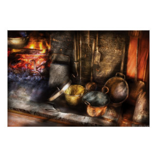Utensils - Colonial Kitchen Poster