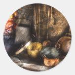 Utensils - Colonial Kitchen Round Stickers