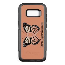 Uterine Cancer Awareness Butterfly Ribbon OtterBox Commuter Samsung Galaxy S8  Case