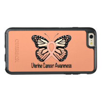 Uterine Cancer Awareness Butterfly Ribbon OtterBox iPhone 6/6s Plus Case