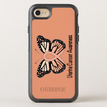 Uterine Cancer Awareness Butterfly Ribbon OtterBox Symmetry iPhone 8/7 Case