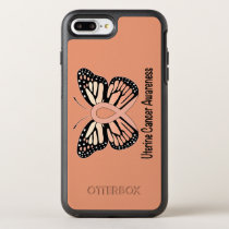 Uterine Cancer Awareness Butterfly Ribbon OtterBox Symmetry iPhone 8 Plus/7 Plus Case