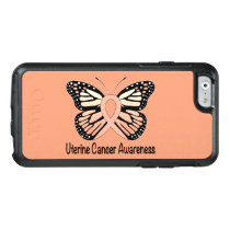 Uterine Cancer Awareness Butterfly Ribbon OtterBox iPhone 6/6s Case