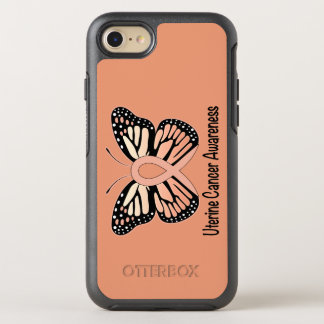 Uterine Cancer Awareness Butterfly Ribbon OtterBox Symmetry iPhone 7 Case