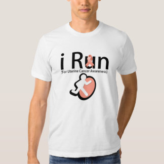 Uterine Cancer Awareness I Run T Shirt