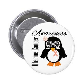 Uterine Cancer Awareness Penguin Pin