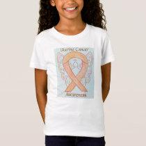 Uterine Cancer Awareness Ribbon Angel Custom Shirt