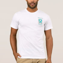 Uterine Cancer Awareness Ribbon Angel Custom Tee