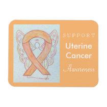 Uterine Cancer Awareness Ribbon Angel Gift Magnets