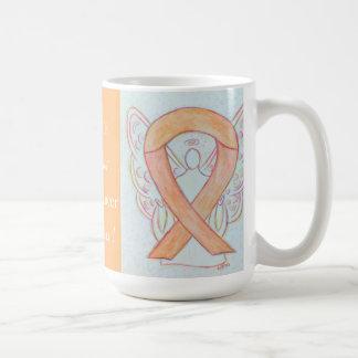 Uterine Cancer Awareness Ribbon Angel Mug
