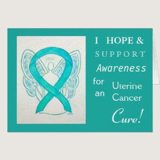 Uterine Cancer Awareness Ribbon Greeting Card