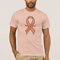 Uterine Cancer Awareness Ribbon with Wings T-Shirt