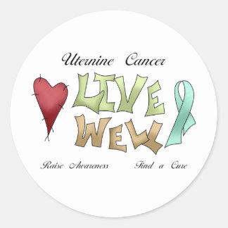 Uterine Cancer Awareness Stickers
