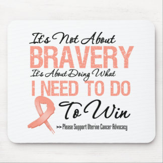 Uterine Cancer Battle Mouse Pad