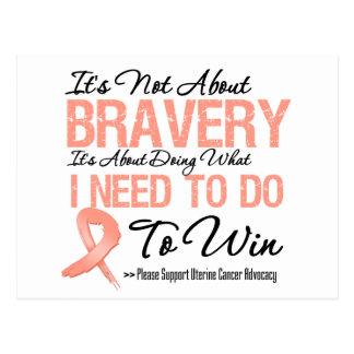 Uterine Cancer Battle Postcard