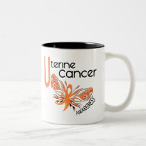 Uterine Cancer BUTTERFLY 3.1 Two-Tone Coffee Mug