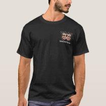 Uterine Cancer Butterfly Awareness Ribbon T-Shirt