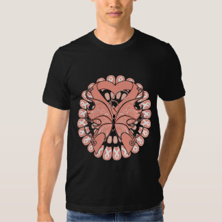 Uterine Cancer Butterfly Circle of Ribbons Shirts