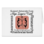 Uterine Cancer Butterfly Inspirations Greeting Card